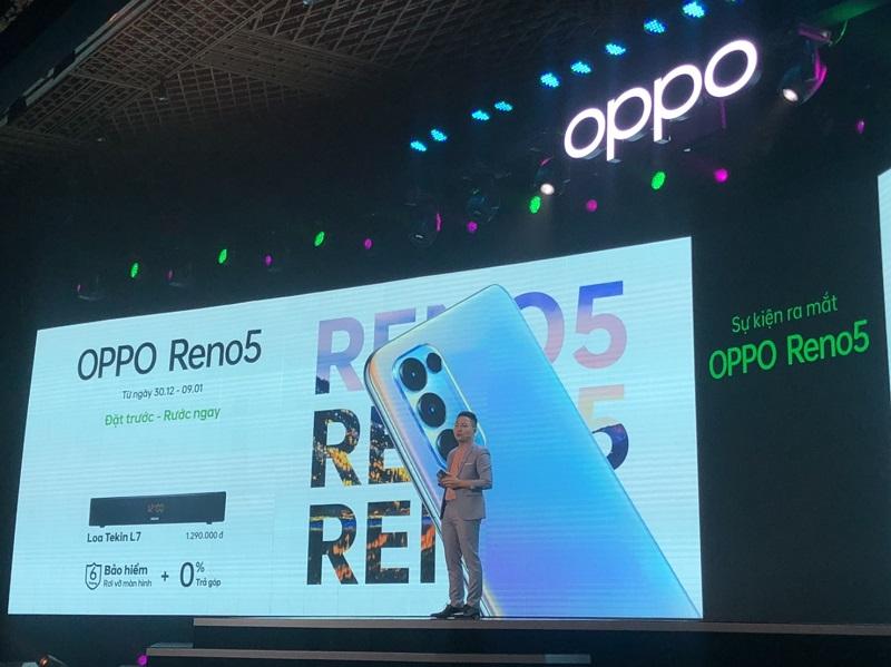 OPPO Reno5 chính thức ra mắt tại Việt Nam: Thiết kế bắt mắt, cấu hình cao, đặc biệt giá tốt và có nhiều khuyến mãi hấp dẫn