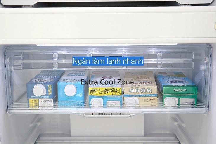 Ngăn Extra Cooling Zone làm lạnh thực phẩm nhanh chóng ở nhiệt độ 2 - 4 độ C