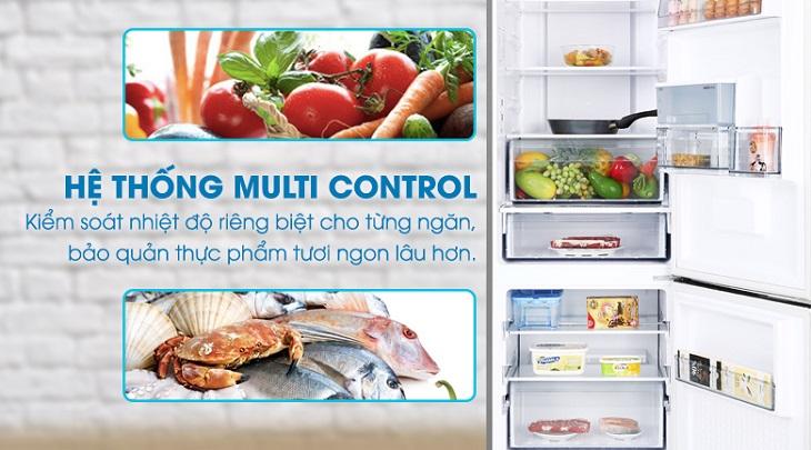 Chế độ tiết kiệm điện Mutlti Control kiểm soát nhiệt độ mỗi ngăn