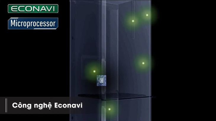 Cảm biến Econavi trên tủ lạnh Panasonic