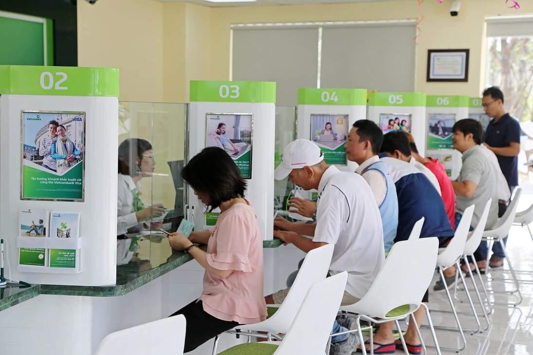 Thời gian làm việc của ngân hàng Vietcombank