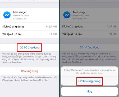 Cách khắc phục lỗi messenger trên điện thoại Iphone