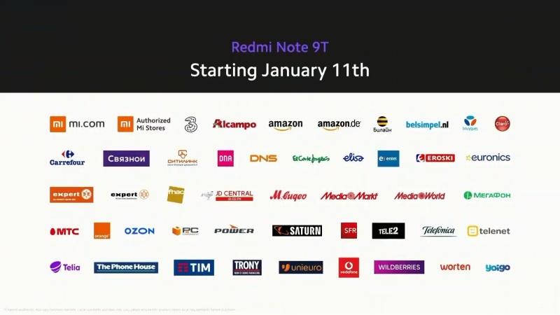 Redmi Note 9T 5G sẽ chính được mở bán từ ngày 11/1/2021