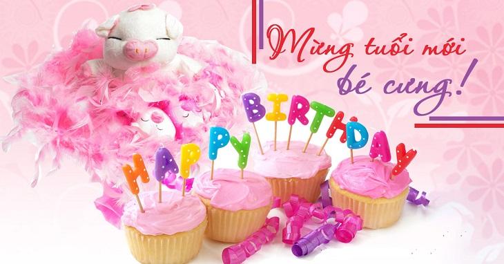 Lời chúc mừng sinh nhật cho em bé