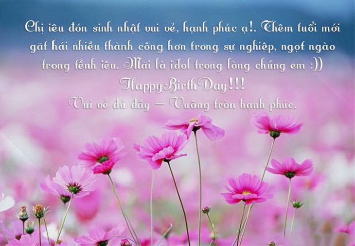 Lời chúc mừng sinh nhật chị gái
