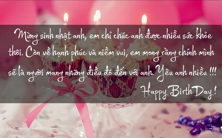 Lòi chúc sinh nhật dành cho người yêu