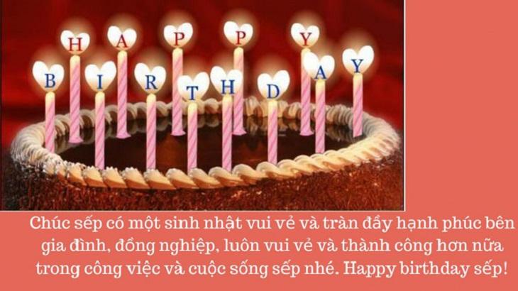 Lời chúc sinh nhật sếp