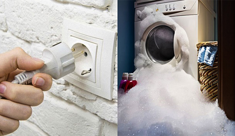 Có cần rút phích máy giặt sau khi dùng xong?