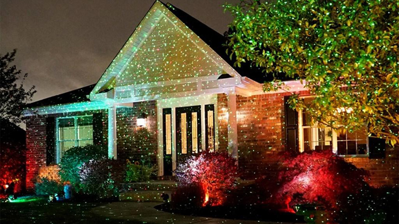 Trang trí nhà cửa ngày Tết với đèn nháy