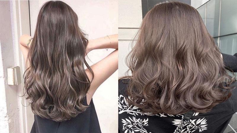 Tóc nhuộm uốn sóng lơi dành cho những cô gái tóc dài