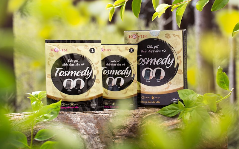 Dầu gội thảo dược đen tóc Tosmedy