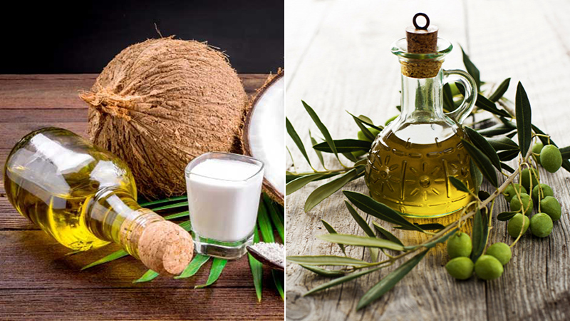 Dùng dầu dừa hoặc dầu olive