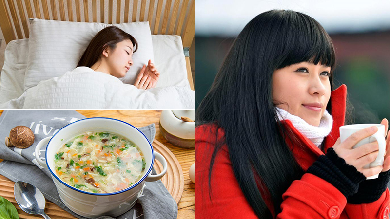 Giữ ấm cơ thể, ăn chín uống sôi vào mùa lạnh