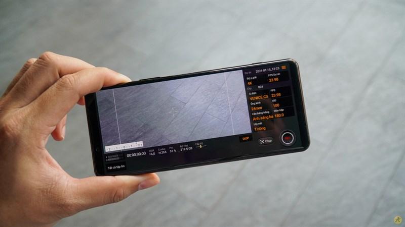 Ứng dụng Cinema Pro trên Xperia 5 Mark II