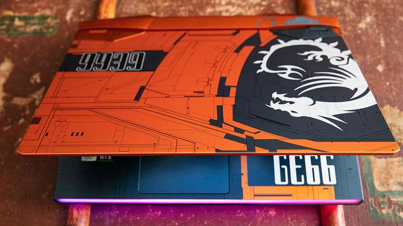 Thiết kế cực độc trên GE66 Raider Dragonshield Edition