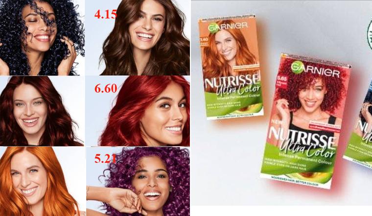 Tổng hợp bảng màu tóc nhuộm Garnier đầy đủ nhất 2021