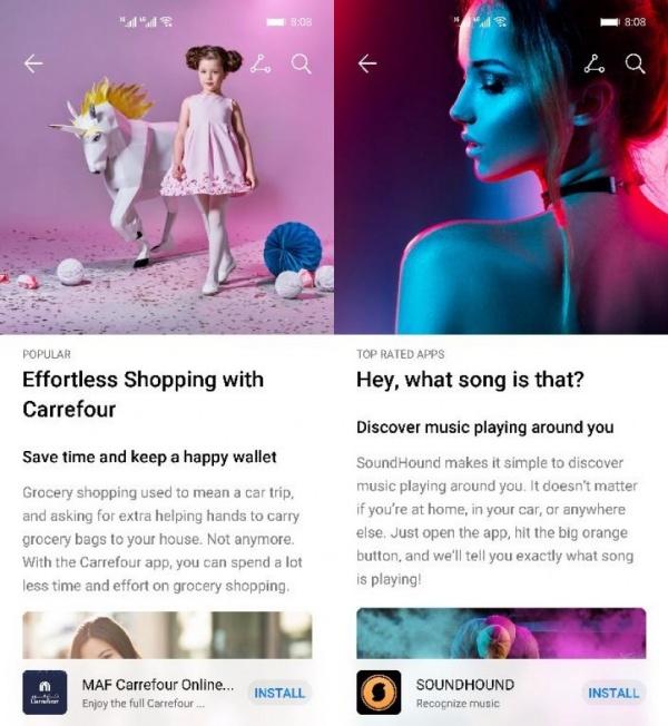 Huawei AppGallery được thiết kế lại với nhiều cải tiến, tab Nổi bật được cập nhật mang đến trải nghiệm người dùng tốt hơn