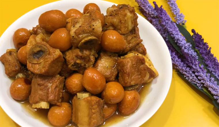 Ngán thịt kho trứng, thử ngay món sườn non kho trứng cút vừa lạ miệng, lại cực kì thơm ngon