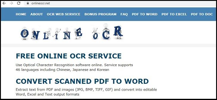 Bạn truy cập vào trang web https://www.onlineocr.net/