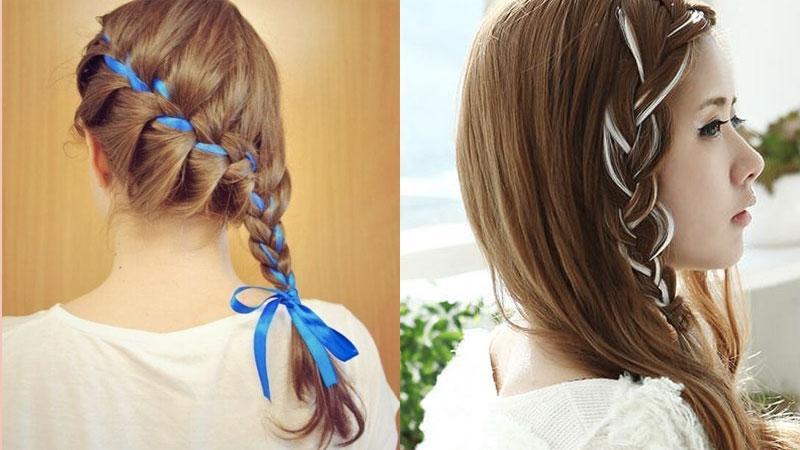 có thể thay ruy băng bằng cách móc highlight cho mái tóc của mình