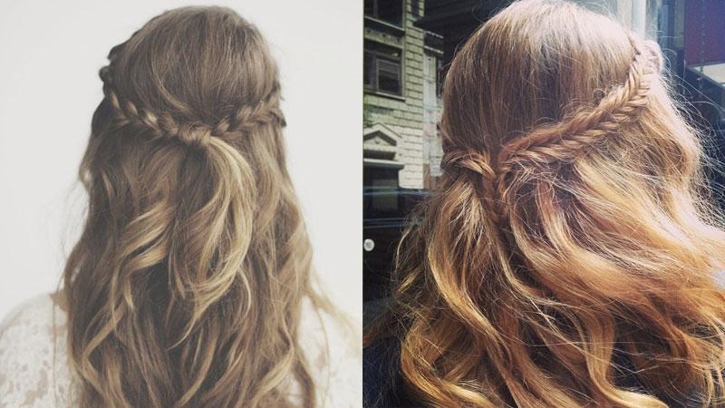 Tết tóc buộc nửa đầu