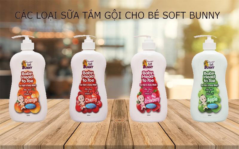 Các sản phẩm tắm gội toàn thân cho bé Soft Bunny
