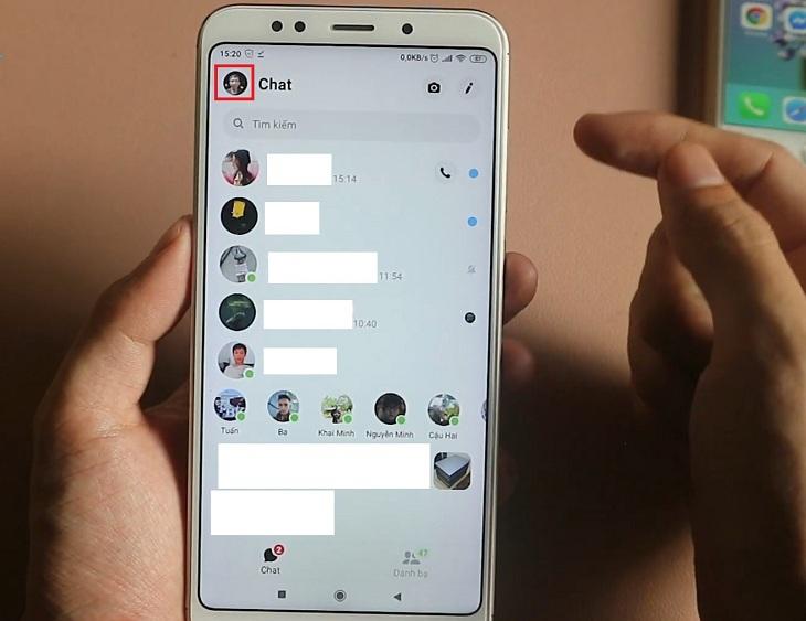Vào ứng dụng Messenger và chọn vào ảnh đại diện