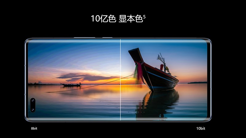Honor V40 5G with 10-bit color resolution for a sharper, more impressive display