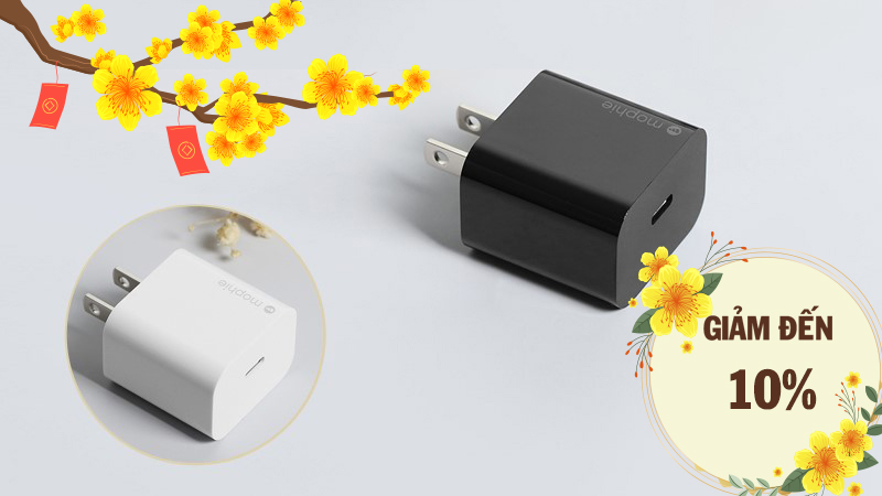 Adapter sạc Type C PD 18W Mophie