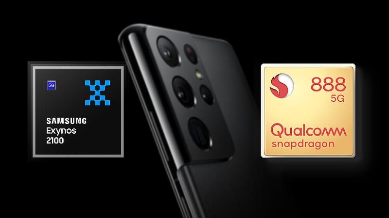 Đo tra hiệu năng của Galaxy S21 Ultra bản dùng chip Snapdragon 888 của Qualcomm và Exynos 2100 của Samsung