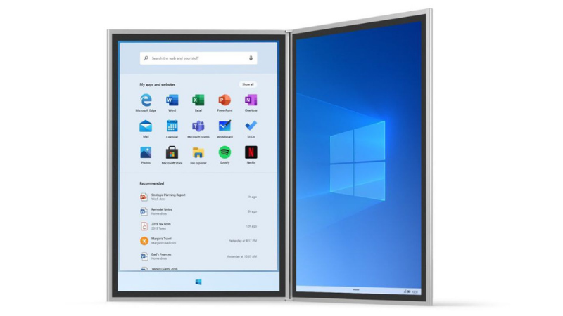 Windows 10X đượcthiết kế dành riêng cho các thiết bị thông minh (tablet hoặc smartphone) có màn hình kép chạy Windows.