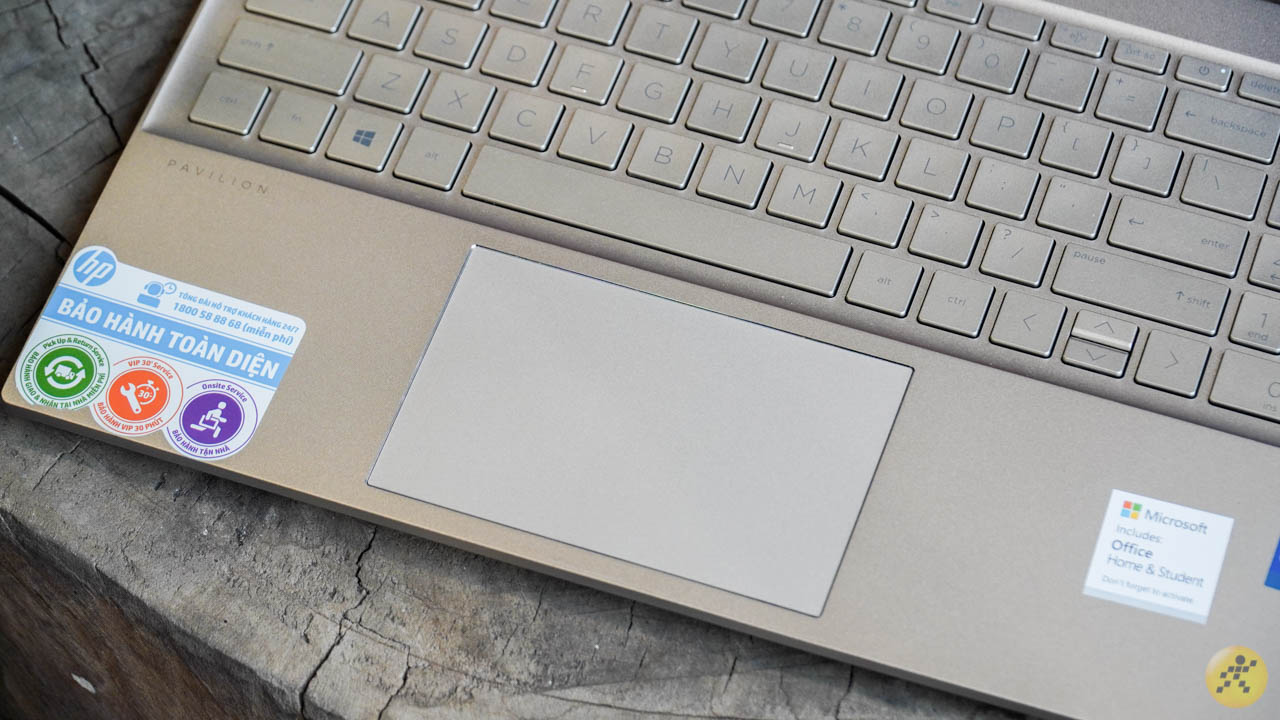 The HP Pavilion 15 touchpad provides a smooth experience