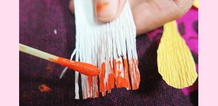 Cách làm nhụy hoa mai – làm đồ trang trí Tết handmade