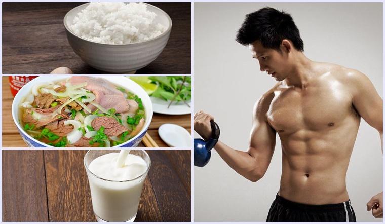 Thực đơn tăng cân cho nam trong vòng 1 tuần