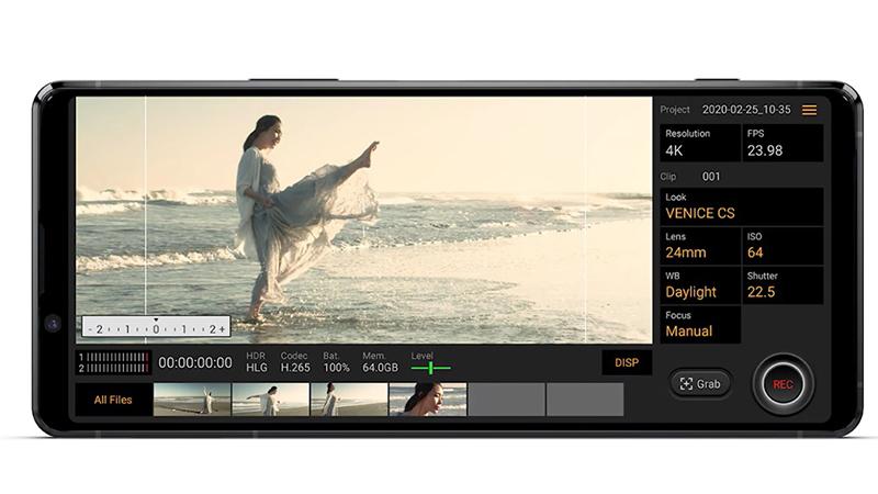 Xperia Pro với ứng dụng quay phim chuyên nghiệp Cinema Pro