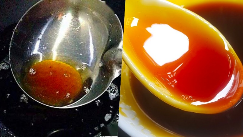 Thắng nước đường bằng dầu ăn