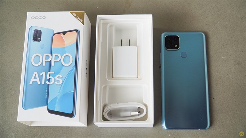 OPPO A15s after opening the box