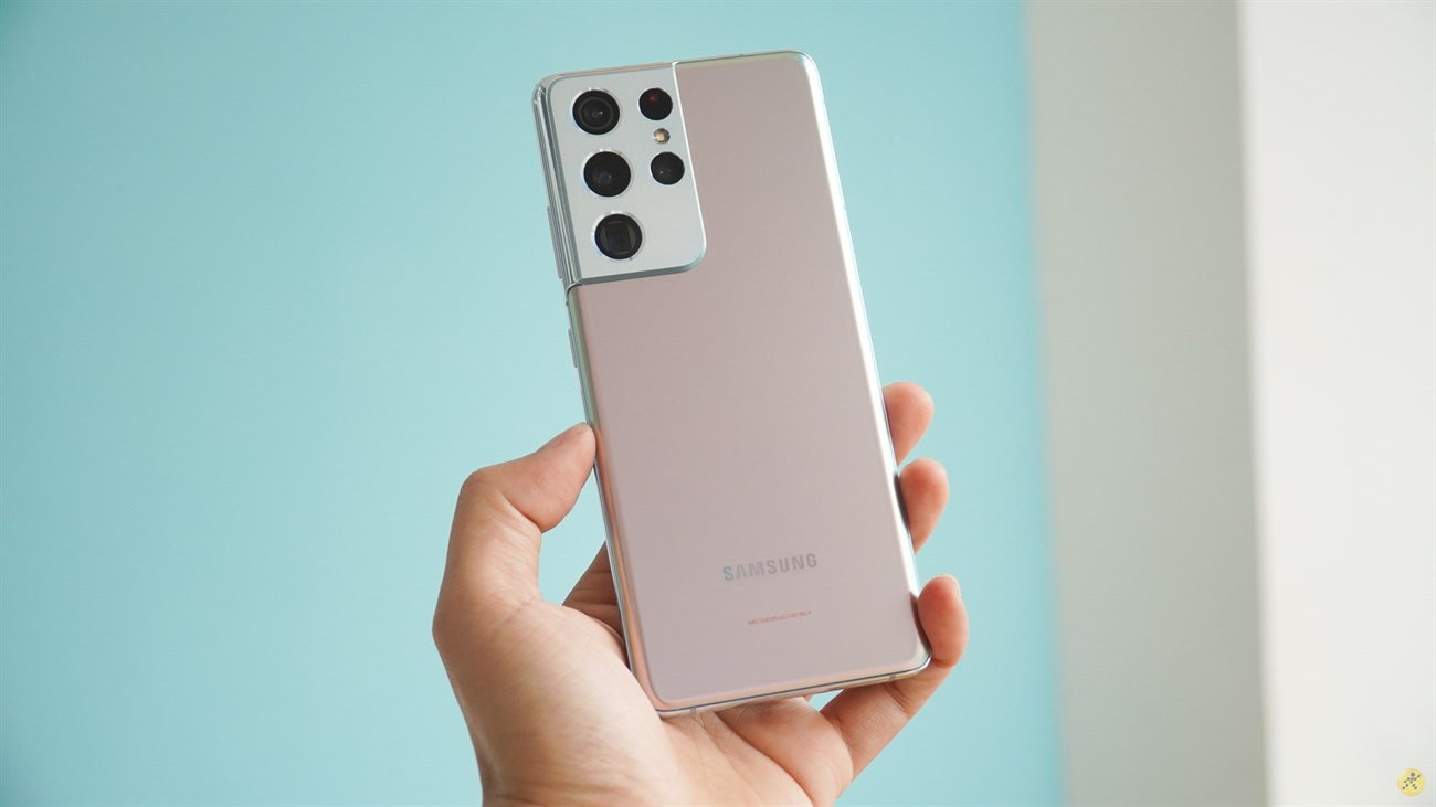 The luxury design of the Galaxy S21 Ultra