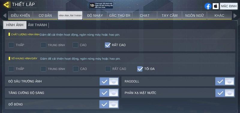 Setting Call Of Duty trên cả hai phiên bản One UI 2.5 và One UI 3.0