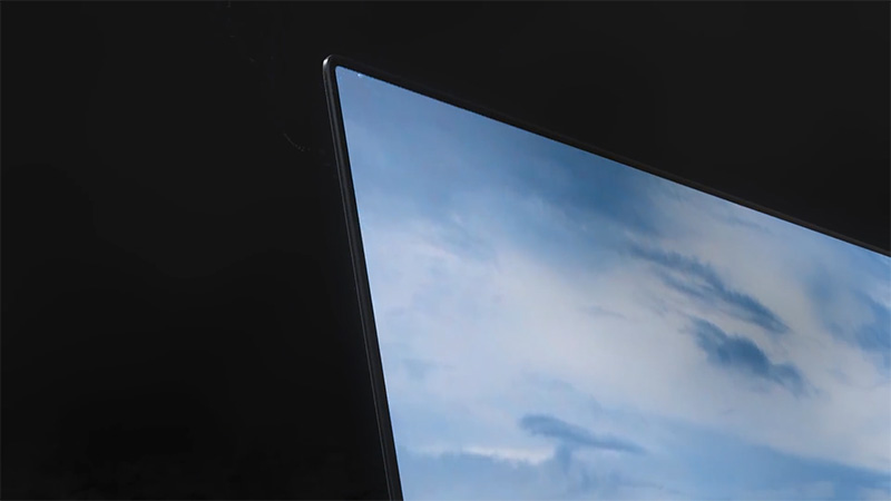 The ultra-thin bezel of the Samsung Display's OLED screen