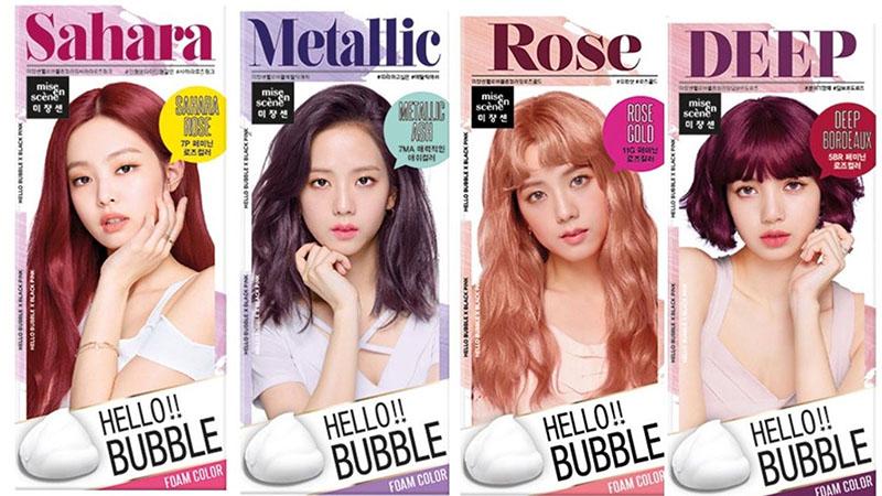 hương hiệu và thuốc nhuộm tóc Mise En Scene Hello Bubble Foam Color