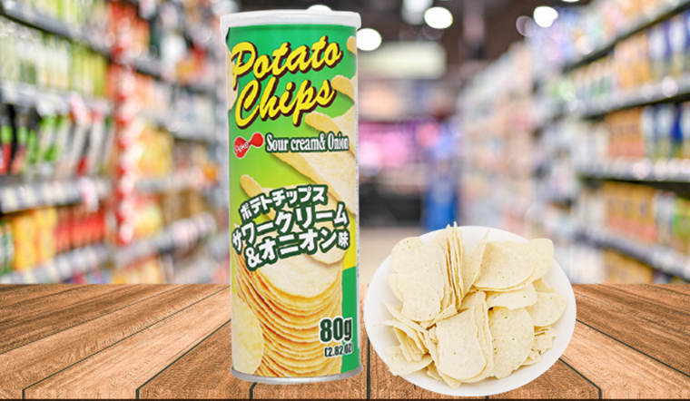 Lạ miệng với sự kết hợp giữa kem chua và hành tây trong snack khoai tây Peke