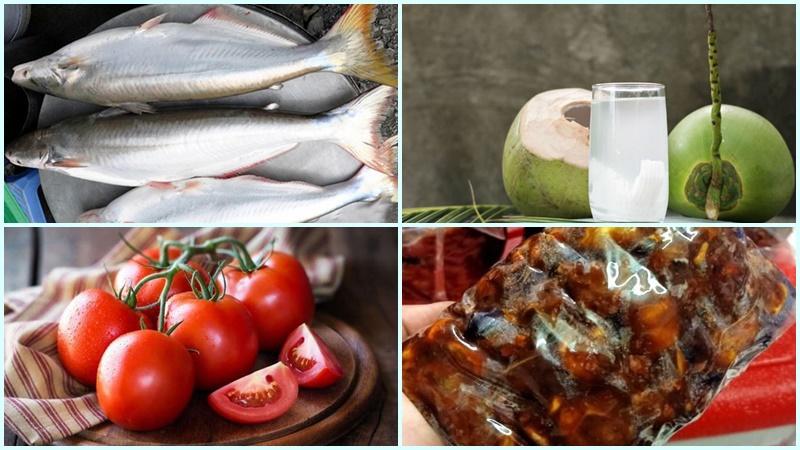 Nguyên liệu làm món lẩu cá bông lau chua ngọt