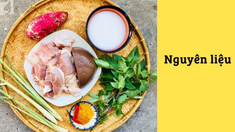 Nguyên liệu chế biến cà ri vịt nước cốt dừa