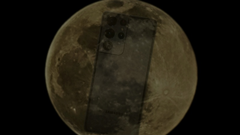 Camera zoom 100x trên Galaxy S21 Ultra chụp ảnh mặt trăng không hề giả trân