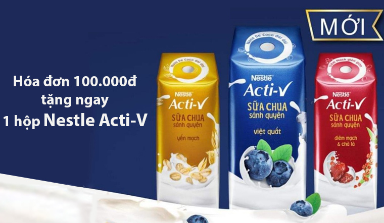 Đón tết tân sửu, sắm sửa đầy đủ - Hóa đơn từ 100.000đ được tặng 1 hộp sữa Neslte 180ml