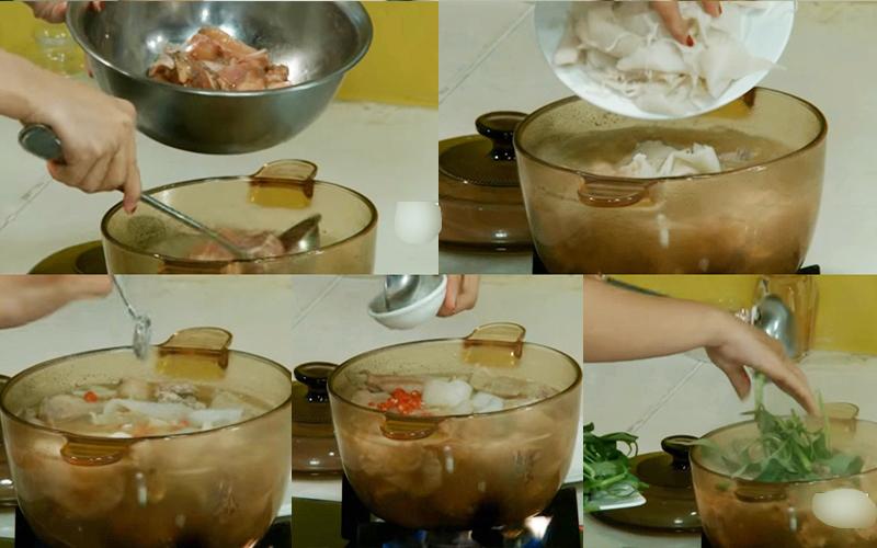 Cách làm lẩu gà măng chua
