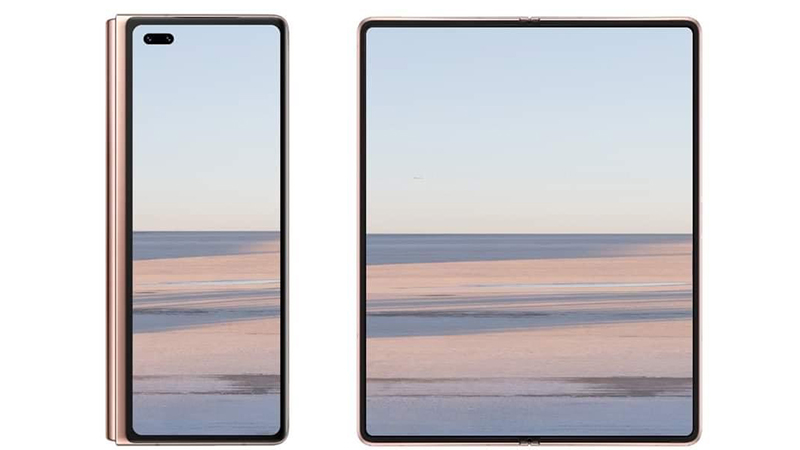 Render image of Huawei Mate X2 from notebookcheck
