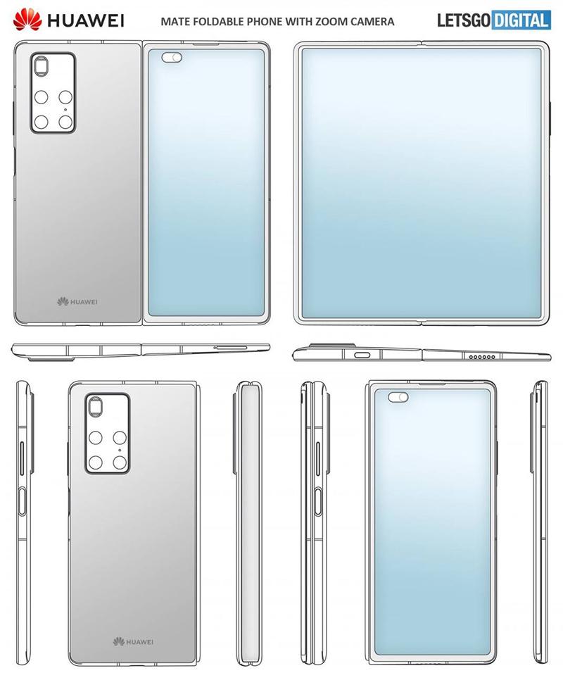 Concept art of Huawei Mate X2