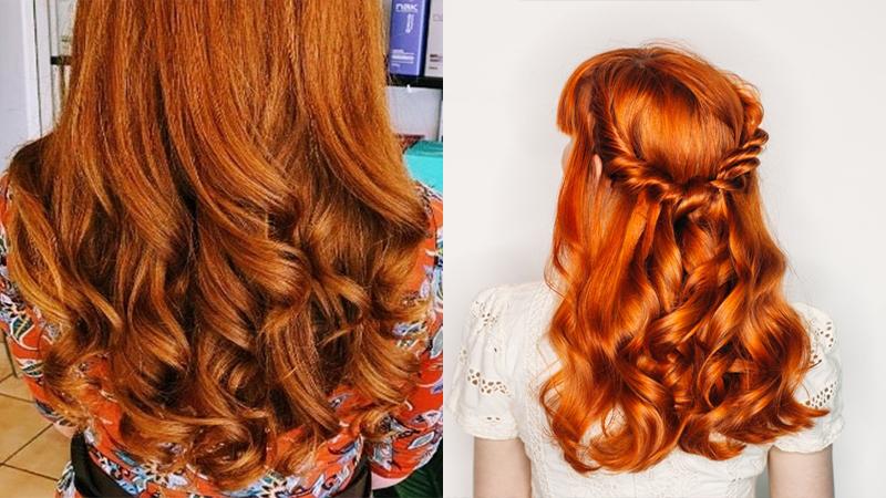 Tóc vàng cam xoăn sóng nước lớn